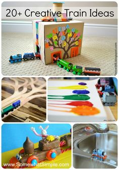 20 creative train ideas - perfect for the train-loving kids in your life! Via SomewhatSimple.com