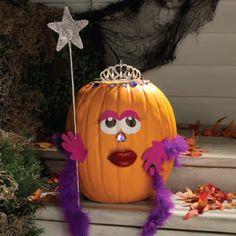 ✿ڿڰۣ Princess Pumpkin decorating idea    #halloween #diy #crafts #pumpkin