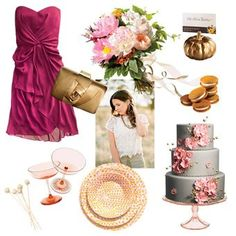 A pink and white wedding