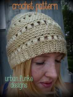 Crochet Pattern Slouchy Puff Beanie ~ Slouchy Hat ~ Fall Hat on Etsy, $5.00