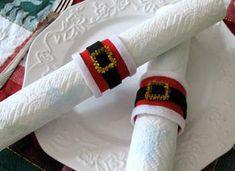 DIY: Santa Belt Napkin Rings: Christmas Craft for Kids