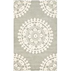 grey area rug on painted wood floor