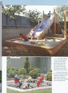 sandbox idea, outdoor kid, diy playground