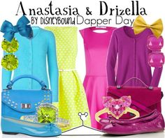 costum, day outfits, outfit idea, anastasia and drizella, cloth, cinderella cinderella, buy, disneybound, disney characters