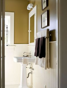Ideas for the bathroom: Classic brown + white + 'Walnut' by Ralph Lauren Paints by xJavierx, via Flickr