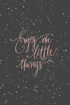 Enjoy little things...like glitter polish! #quote
