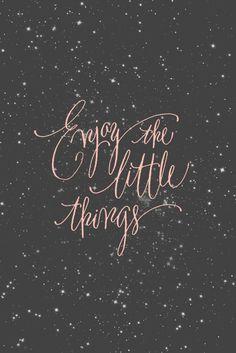 Enjoy little things...like glitter polish! #quote