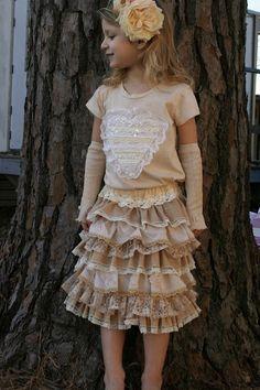 Pretty Ruffle skirt tutorial