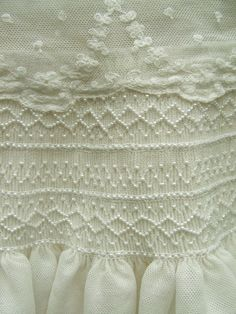 breathlessly beautiful!  Pearls on netting.