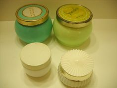 Vintage Avon Cream Sachet & Other Containers (14) Milk Glass and Plastic--Great For Display