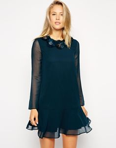 Needle & Thread Corsage Peplum Dress