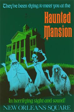 Disneyland Haunted Mansion Poster