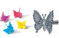 More butterfly hair clips