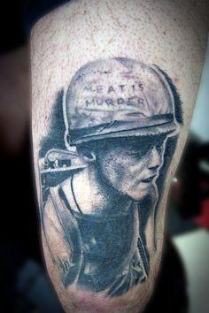 Justin Dion at Anatomy Tattoo in Portland Oregon. www.justindion.com