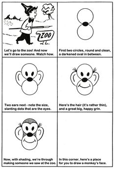 How to Draw a Monkey Kids Drawing Lesson.