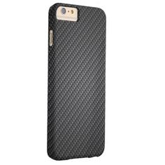 Graphite Fiber Texture Barely There iPhone 6 Plus Case