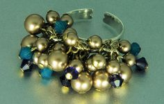 Bronze Pearl and crystal ring