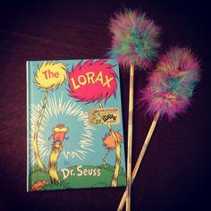 Dr Suess The Lorax Truffala trees DIY kids craft