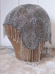 bead headdress, bead 1920s, hat