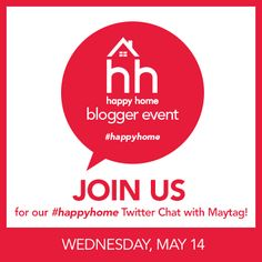 Our #HappyHome Twitter Chat is tomorrow and you're invited! Join us at 11:45AM CST to chat about creating your dream laundry space and ask questions of your own. Follow us on Twitter at http://hhgre.gg/1joUEUX.