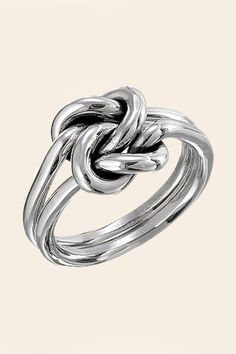 From TisTik, Mexican silver. Silver Double Knot Ring - $35.00 @ Shoptiques.com