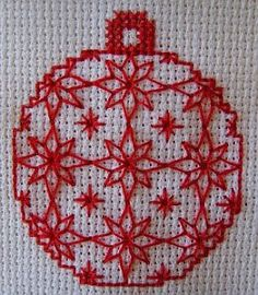 Borduurblog: Cross stitch christmas ornament