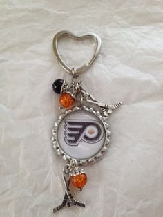 Philadelphia Flyers Bottle Cap keychain by MANDLLTD on Etsy, $5.00 bottle caps, flyer bottl, philadelphia flyers, bottl cap