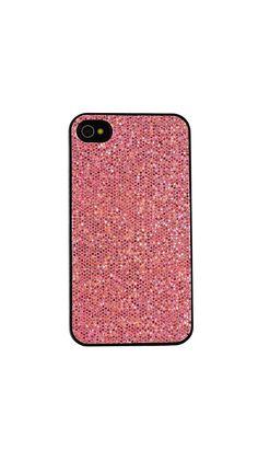 Pink iPhone 4/4S Glitter Case.