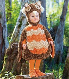 fuzzy owl baby costume for your 1st Halloween! - Chasing Fireflies
