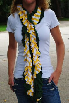 Cute #Baylor ruffle scarf! (found on Etsy) #SicEm