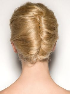 Sixties double french twist retro hair, spring hair, braid, 1960s style, girl hairstyles, hair trends, doubl french, french twist, chignon