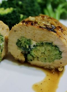 I have got to try this out! It is light and looks easy to make - Chicken stuffed with broccoli and cheese.