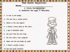 Lost in Grammar Wonderland! Two great freebies here…one for adjectives and one for adverbs!