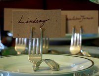 Fork place card holders, another chic decor idea!