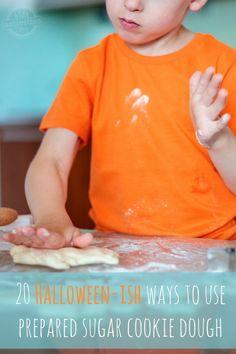 20 Easy Halloween Cookie Ideas that Use Prepared Sugar Cookie Dough