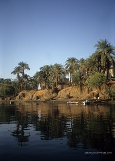Reflections on the Nile near Luxor, Egypt - photo by B N Sullivan