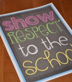 first year classroom, color candi, chalk, classroom decor, classroom rule
