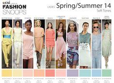 Spring/Summer 2014 Runway Color Trends Soft Tones