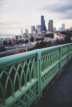 love this shot of a bridge in seattle.
