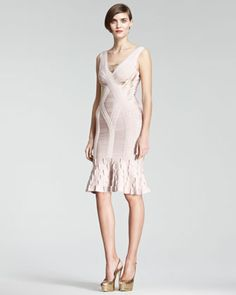 Flare-Hem Bandage Dress by Herve Leger at Neiman Marcus.