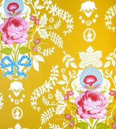 Pip Studio Shabby chic yellow wallpaper