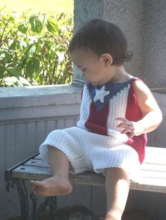 New free crochet pattern: Boricua Patriotic Infant Tank and Shorts Set
