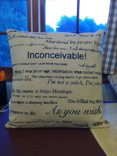 Princess Bride movie quote pillow by CraftEncounters on Etsy