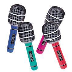 Un micrófono hinchable muy grande, ideal para photocalls! De www.fiestafacil.com / A huge inflatable microphone, ideal for photocalls! From www.fiestafacil.com