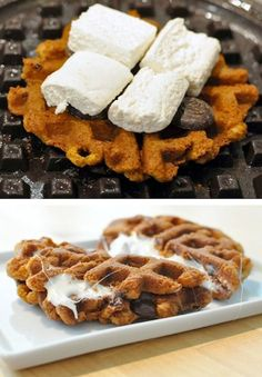 23 Things You Can Cook In A Waffle Iron (with pictures & recipes) waffl smore, irons, waffl iron, food, yummi, recip, smore waffl, waffle iron, dessert