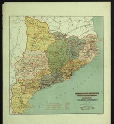 2on projecte : vegueries i comarques :: Mapes (Biblioteca de Catalunya)