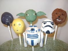 more star wars cake pops