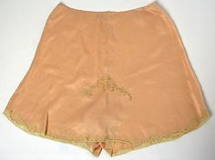 Underpants Christophe Date: 1920s Culture: French Medium: silk, cotton Accession Number: 1979.569.35