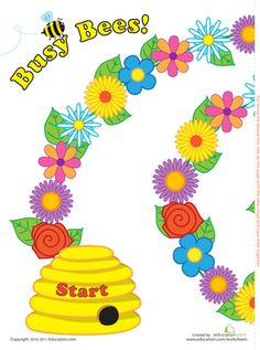 Play Busy Bees Worksheet