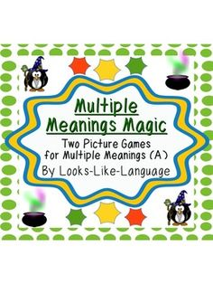 Multiple Meanings Magic (A) Games & Task Cards. Limited readers can learn CCSS vocabulary while having fun!